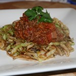 Bolognaise with Cabbage Noodles